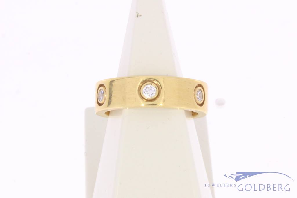 Vintage 18 carat gold Cartier Love ring with ca. 0.27ct brilliant cut diamond