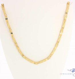 Vintage 14k gouden design collier