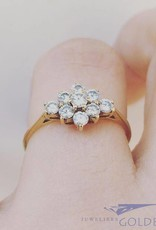 Vintage 14 carat gold ring with approx. 0.49ct brilliant cut diamond