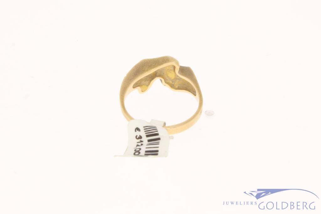 Vintage 14k bicolor gouden Lapponia ring handgemaakt