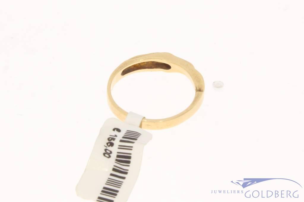 Vintage 14 carat gold Lapponia ring