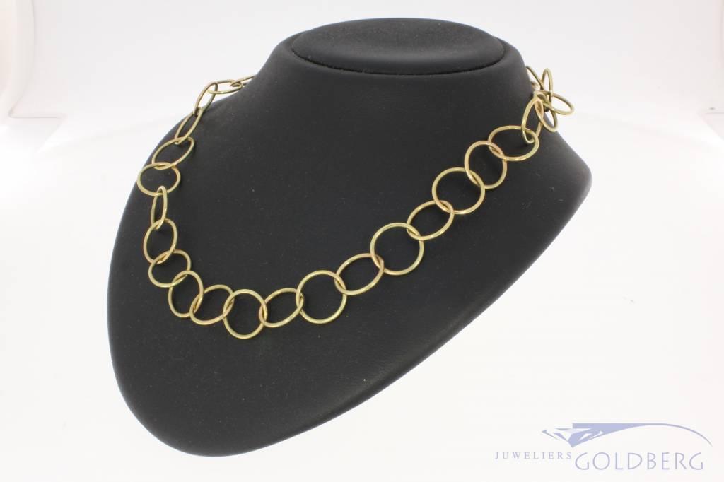 Vintage 14 carat gold link necklace
