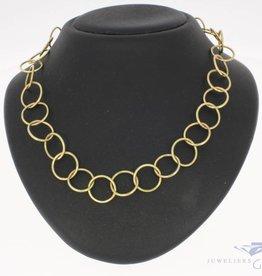 Vintage 14k gouden schakel collier