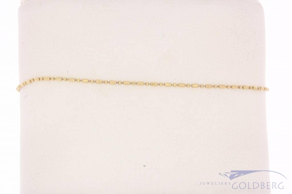 Fijn vintage 14k gouden enkelbandje