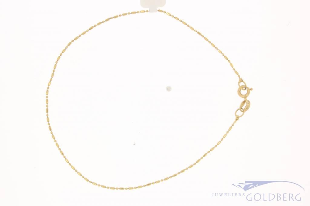 Fijn vintage 14k gouden armbandje/enkelbandje