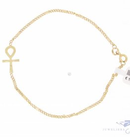 Vintage 14 carat gold bracelet Ankh symbol