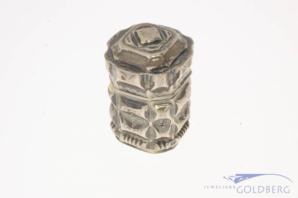 Antieke zilveren reukdoos ca. 1880