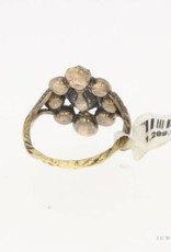 Antieke 14 carat gold & silver ring with ca. 0.55ct rose cut diamond 1906-1953