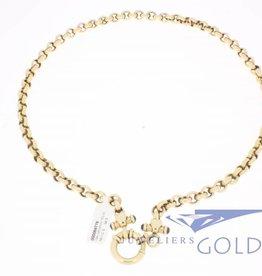 14k gouden jasseron collier 50cm