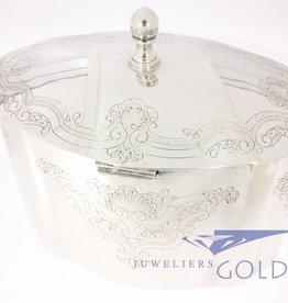 Silver cookie jar Portugal 1938-1984