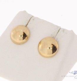 Vintage 14k gouden bolvormige oorstekers