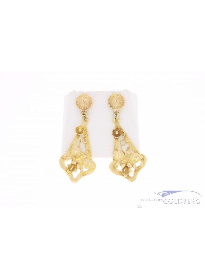 Vintage 14 carat gold adorned earstuds