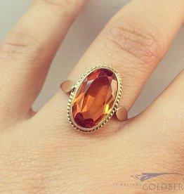 Vintage 14k gouden ring met citrien