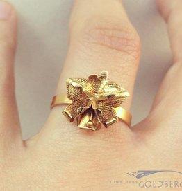 Vintage 14k gouden bloem-vormige ring Suriname