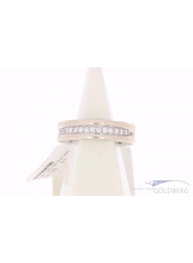 Vintage 18 carat white gold Bulgari ring with ca. 0.64ct brilliant cut diamond