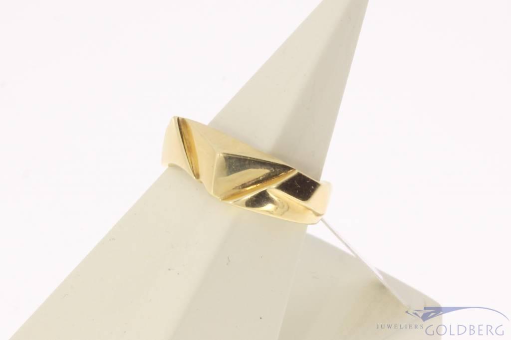 Robuuste vintage 14k gouden design ring