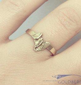 Vintage 14k gouden design ring