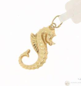 Vintage 14k gouden hanger zeepaardje