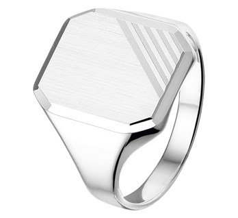Mens signet ring suitable for engraving
