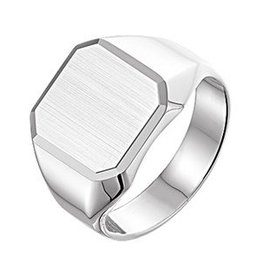 Silver signet ring suitable for engraving