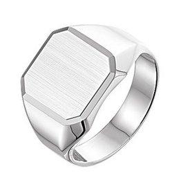 Zilveren zegelring/graveerring vierkant
