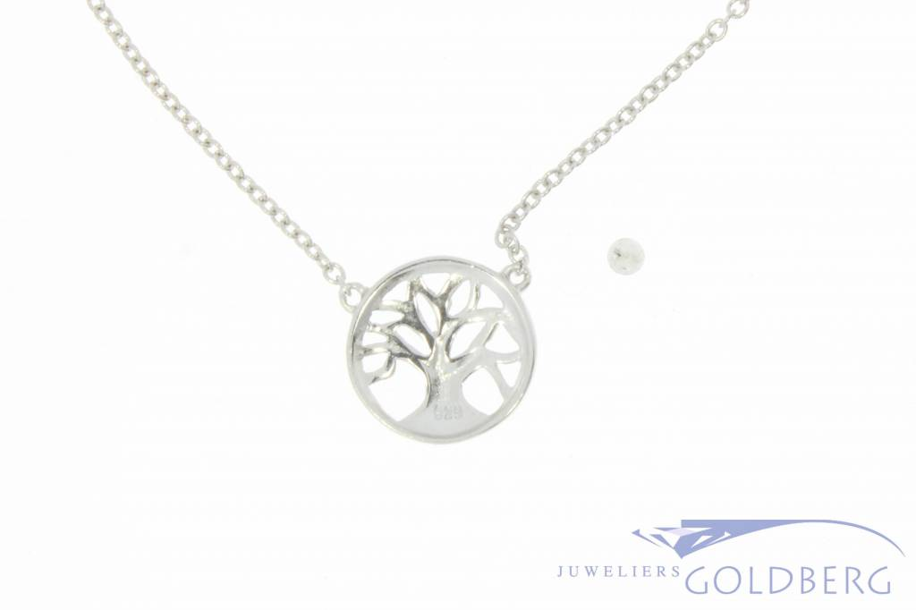 Fine silver necklace with tree pendant