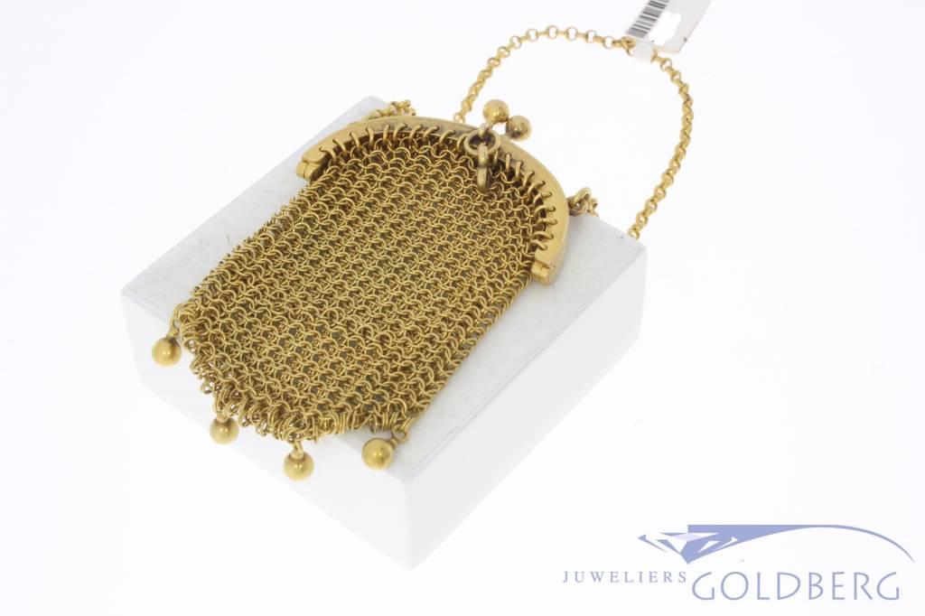 Antiek 14k gouden tasje/beursje 1906-1953