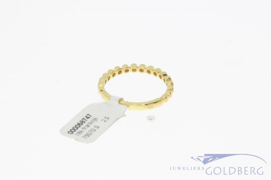 Vintage 18 carat gold ring France