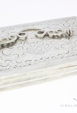 Antique silver spoon box Dutch 1854