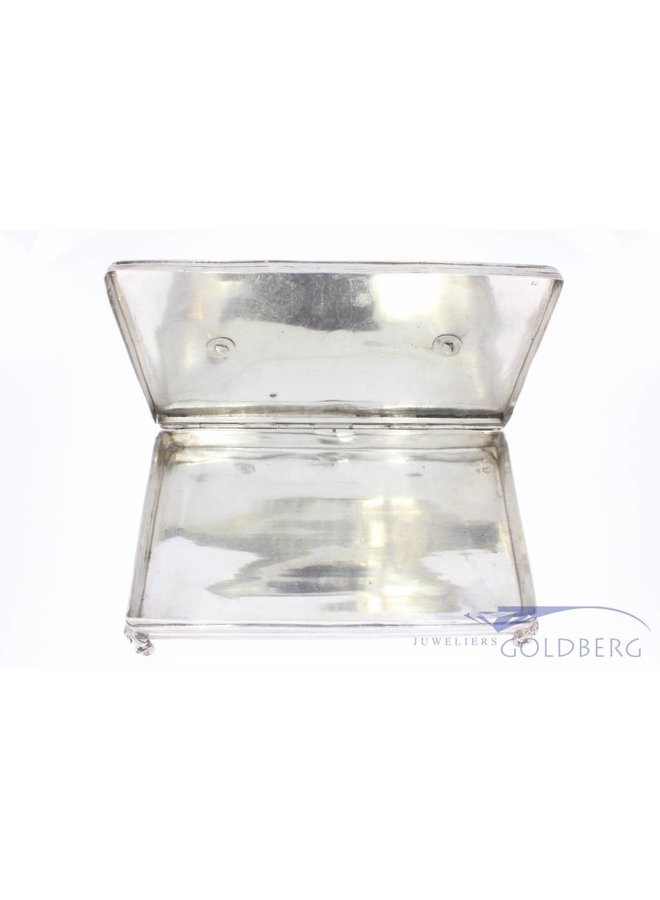 Antique silver spoon box Dutch 1854