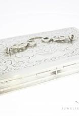 Antiek zilveren lepeldoosje 1854
