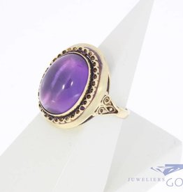 Vintage 14 carat gold ring with large amethyst