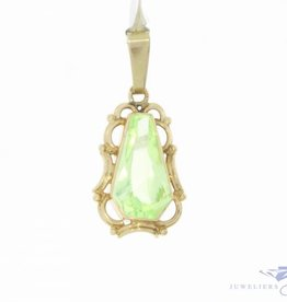 Vintage 14 carat gold pendant with facet cut Prasiolite
