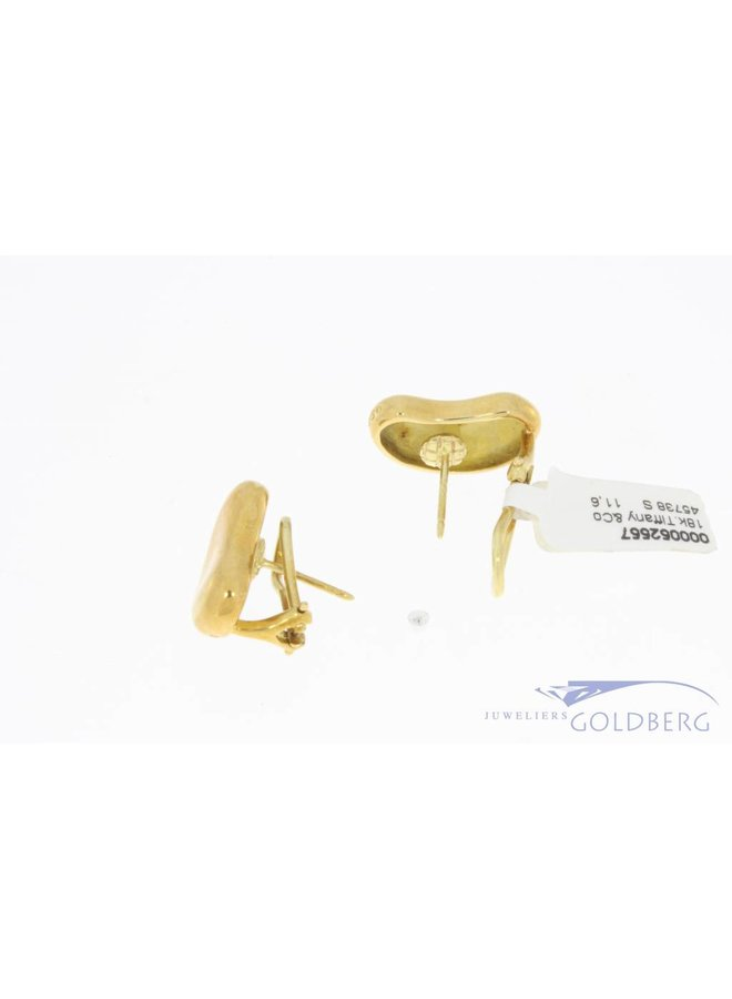Vintage 18k gouden Tiffany & Co Peretti Bean oorstekers