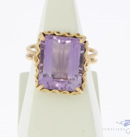 Vintage 18k gouden ring amethist