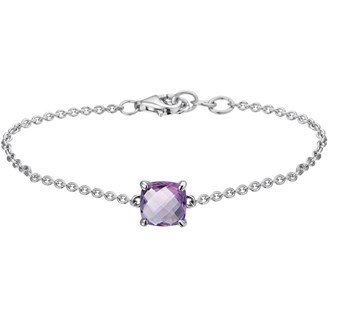 Zilveren armband met paarse amethist