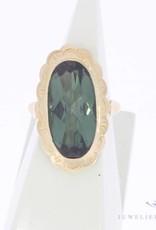 Vintage 14 carat gold ring with large tourmaline