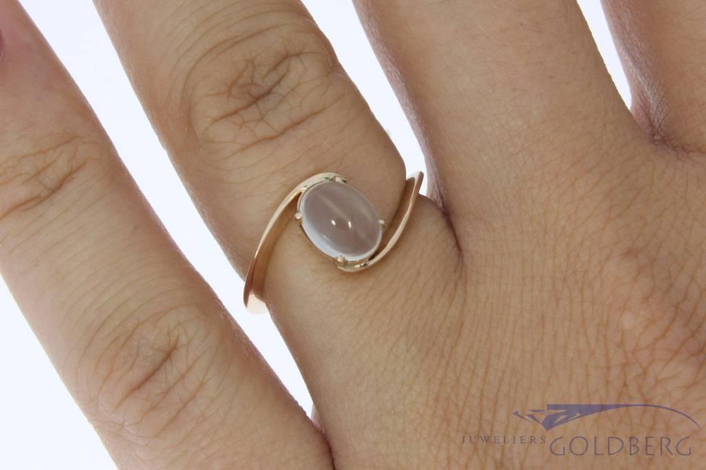 Antieke 14k gouden ring met maansteen ca. 1930