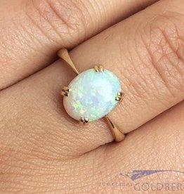 Vintage 14k gouden ring met edelopaal