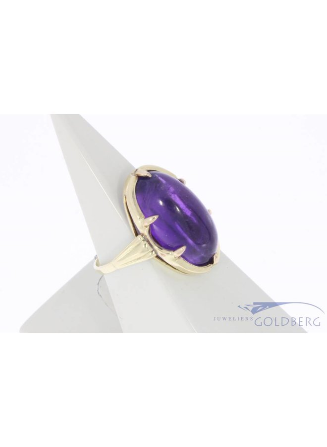 Vintage 14 carat gold ring with amethyst