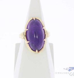 Vintage 14k gouden ring met amethist