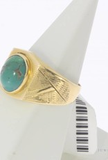 Vintage 20 carat gold ring with turquoise