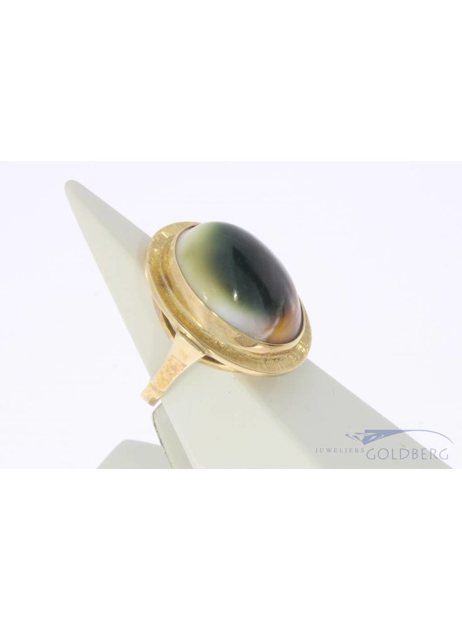 Vintage 14 carat gold ring with Mata Bia shell