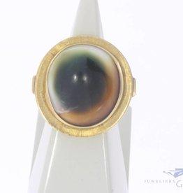 Vintage 14k gouden ring met Mata Bia schelp