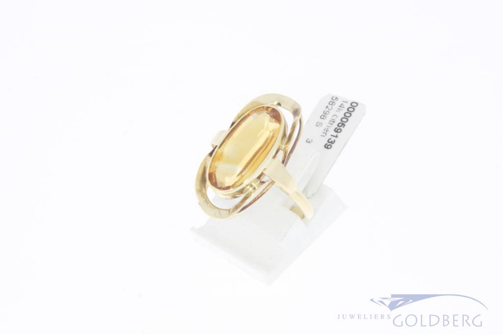 Vintage 14 carat gold ring with citrine
