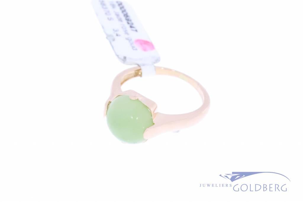 Vintage 18k rosegold ring with jade