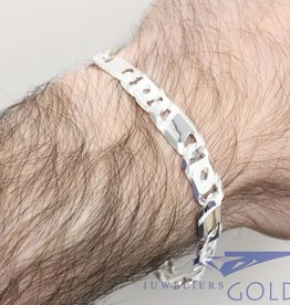 Silver mens bracelet eagle eye 8,5mm 21cm
