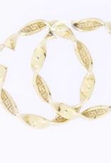 Vintage 18k gold twisted hoop earrings 50mm