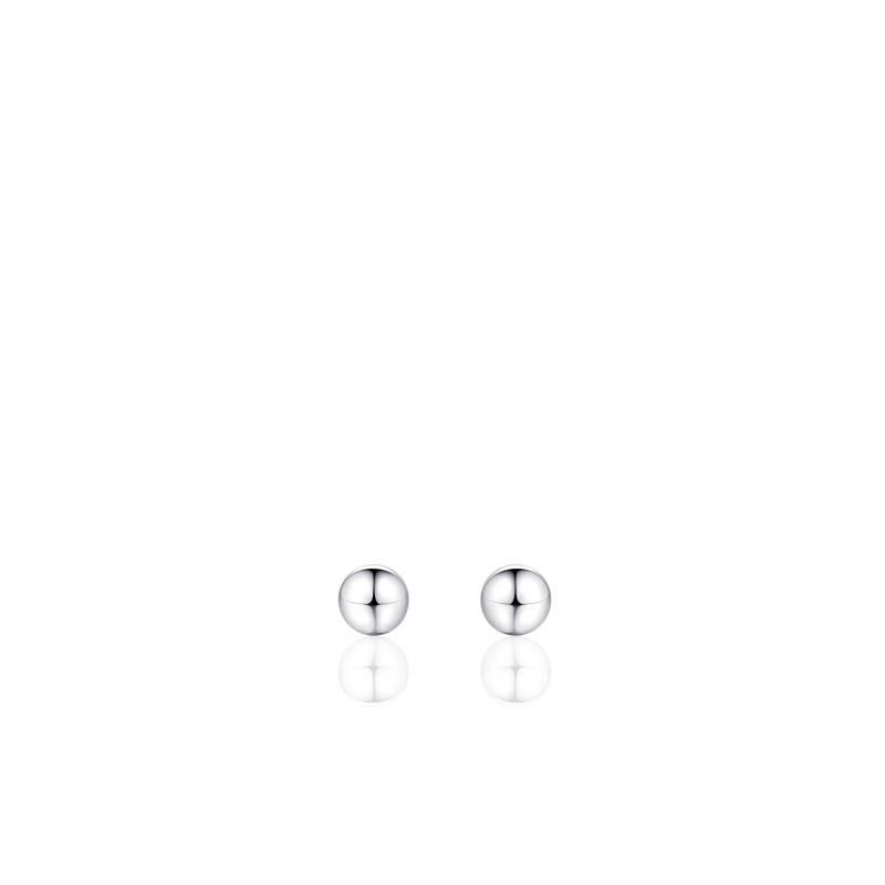 "Zilveren oorsteker ""bolletje"" 4mm zilver"