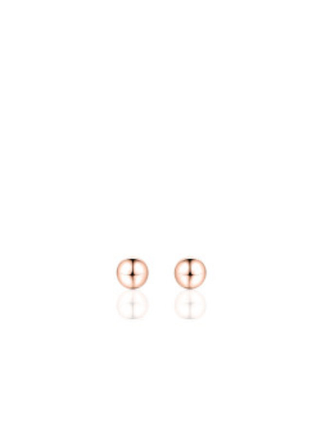 Silver earstud sphere 5mm rose gold plated
